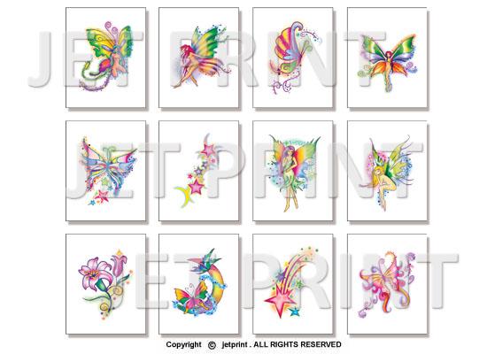 紋身, 紋身貼, 紋身貼紙, 客制化, 貼紙, 裝飾, 金屬紋身, 彩色紋身, 黑色紋身, 蝴蝶, 仙女