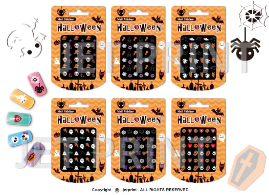 Nail Art stickers with various fashion designs, Nail Fashion, JET PRINT, Halloween