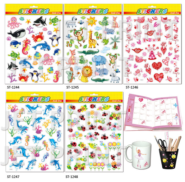 PVC, PVC Sticker,dolphin, penguin, Elephant, animal, bee, flower, Love, Hippocampus, lion