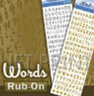 Rub On Transfer Sticker - Easy to transfer.We have plenty color for selection.  4 assorted designs